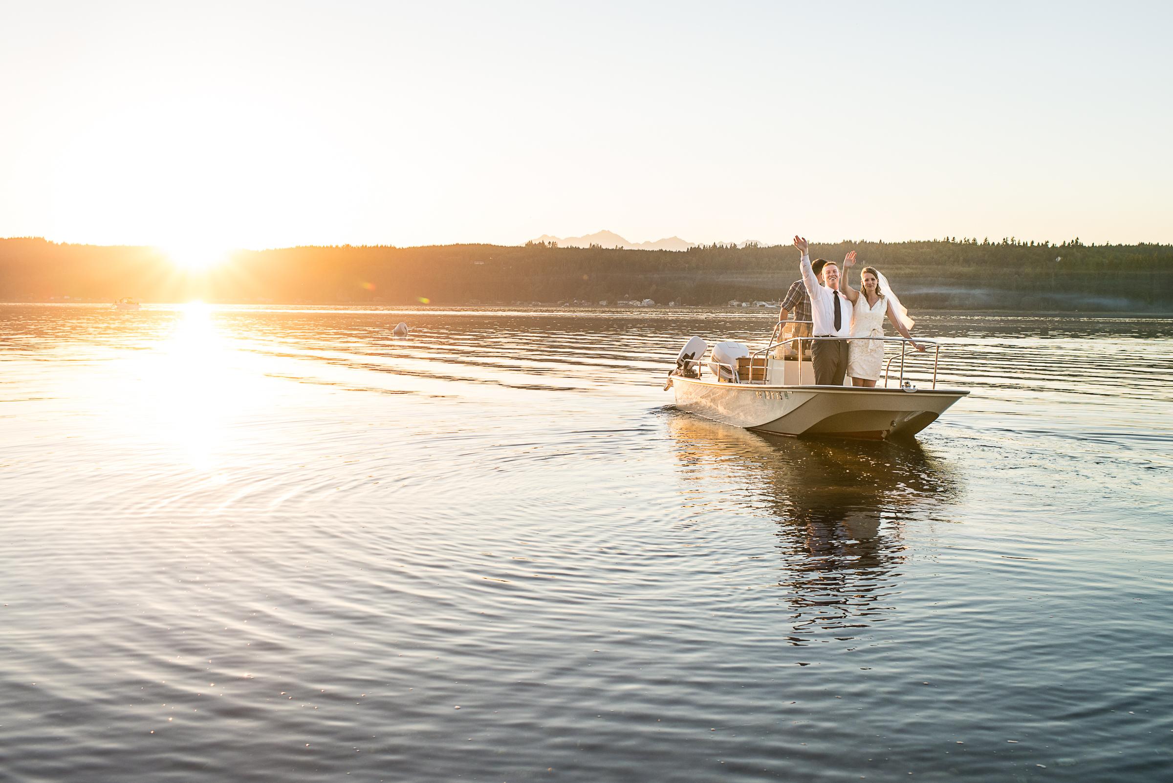 Wedding taken away on a yacht