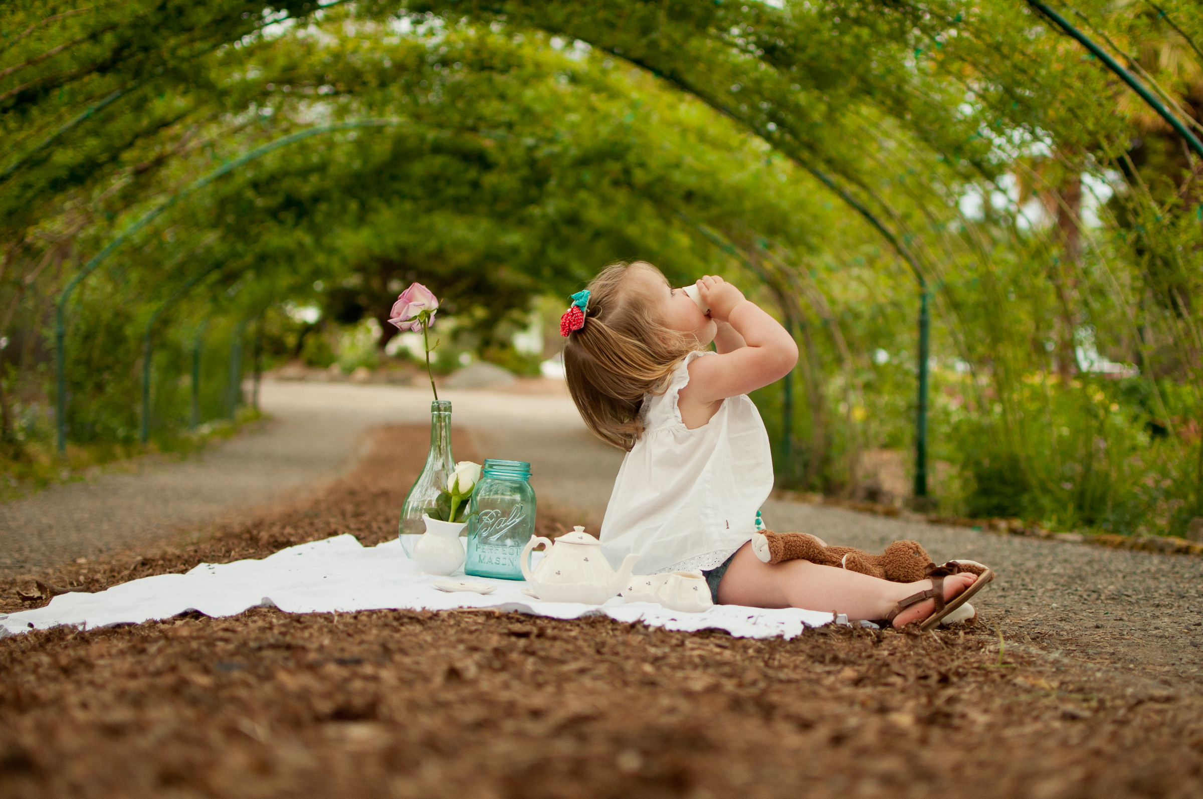 Baby girl picnic