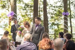 Wedding bride & groom walking