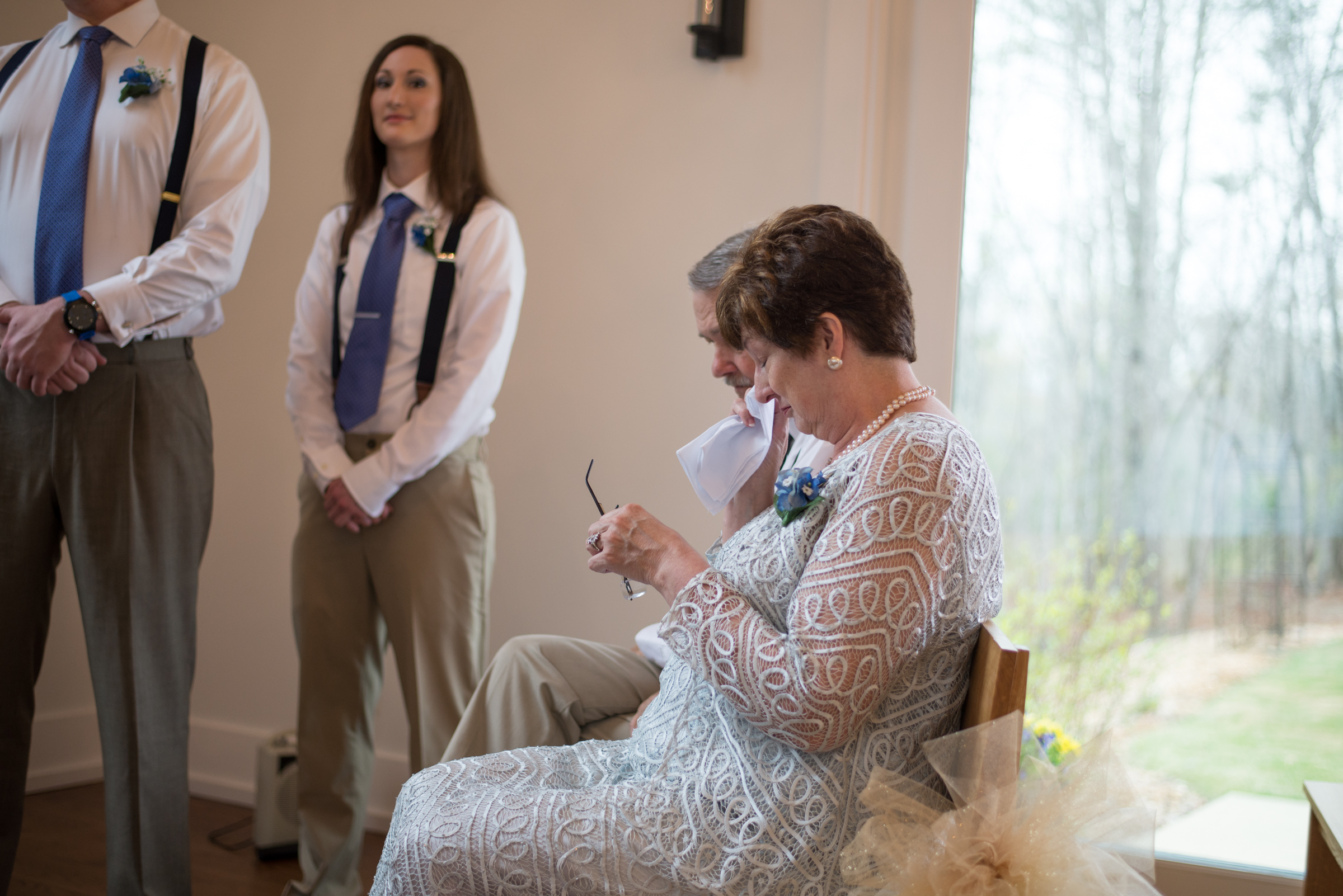 Wedding grooms mother crying atlanta