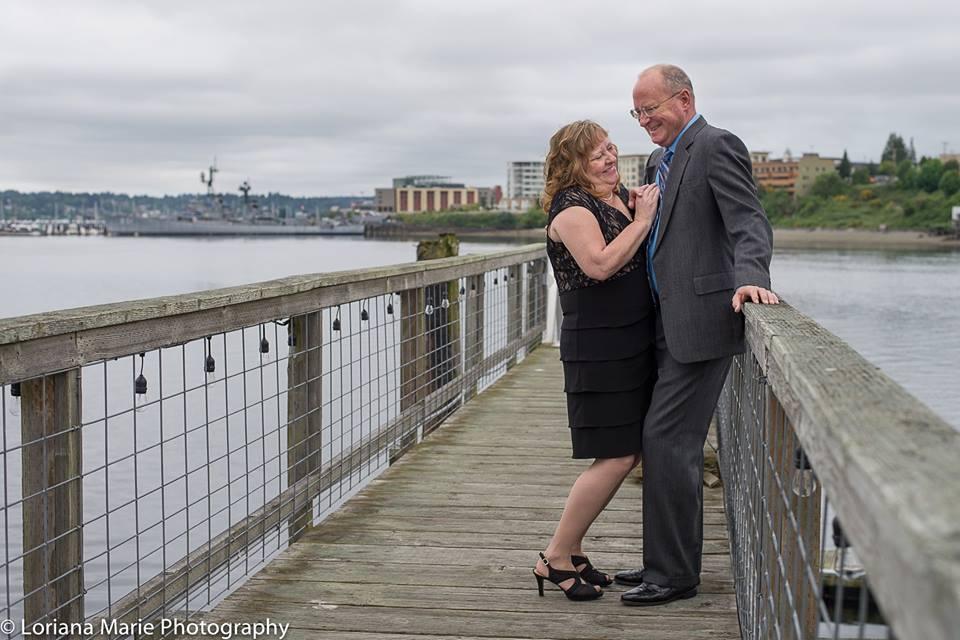 Wedding on the dock