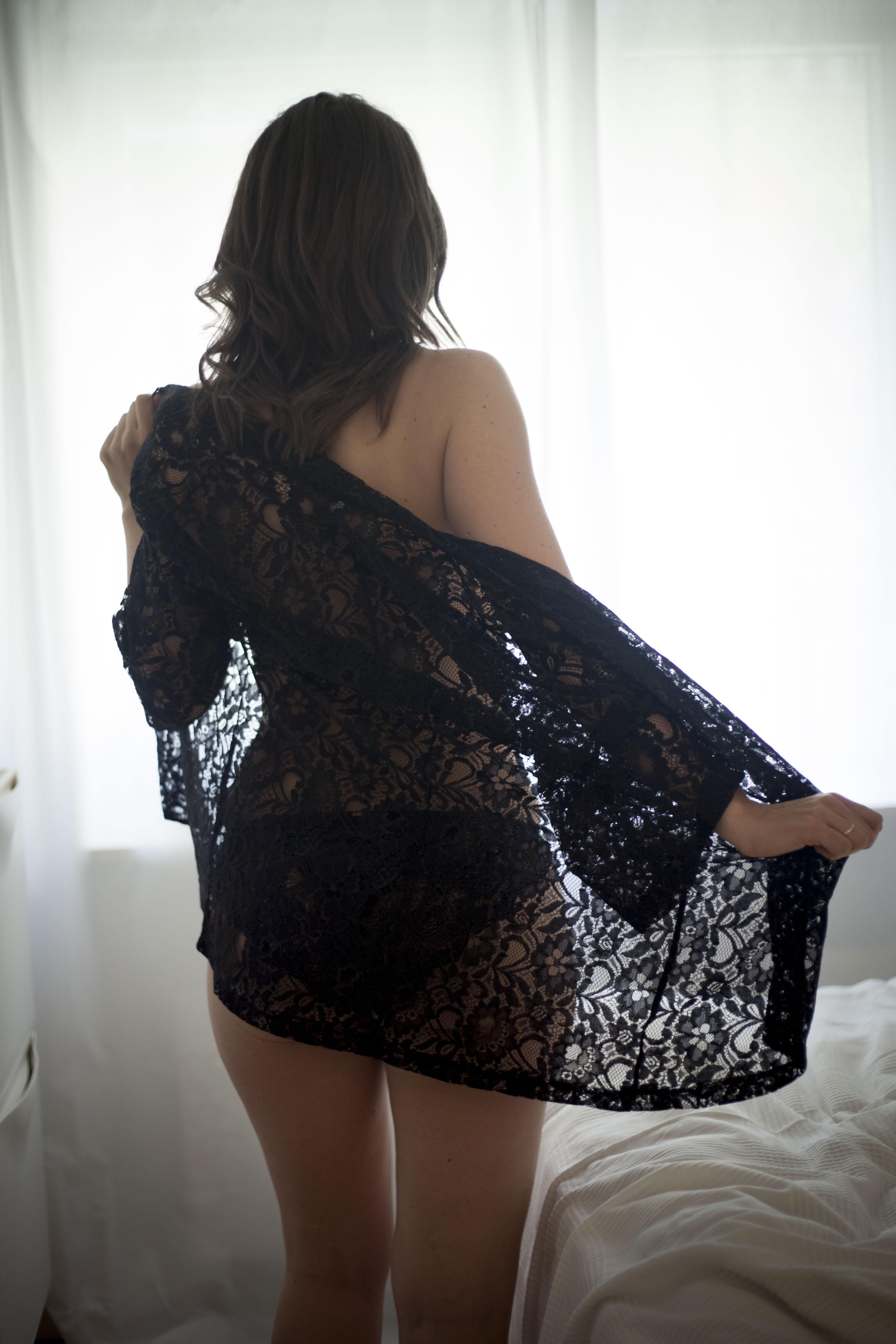Boudoir billeder undertøj morgengave
