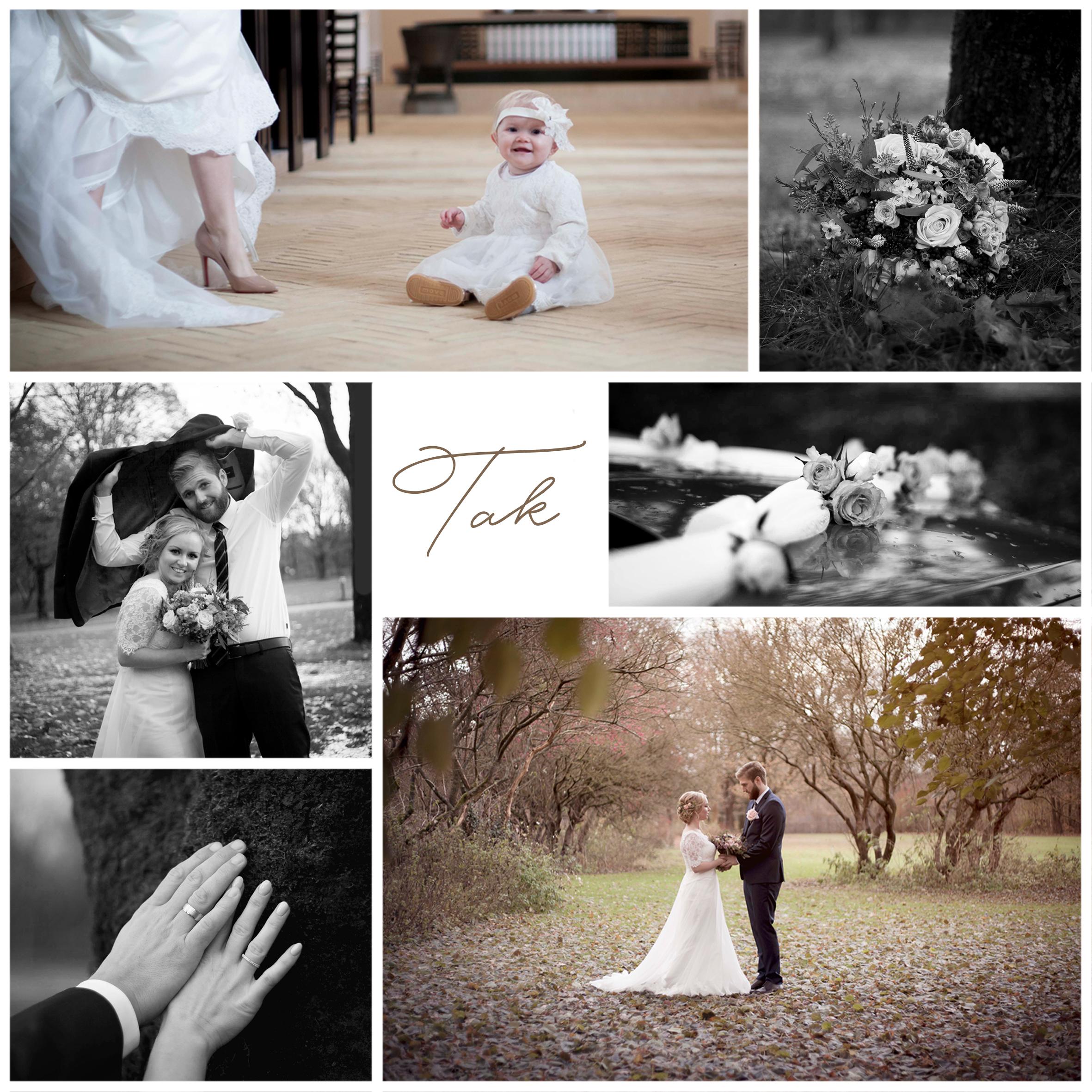 bryllupsfotografering takkekort