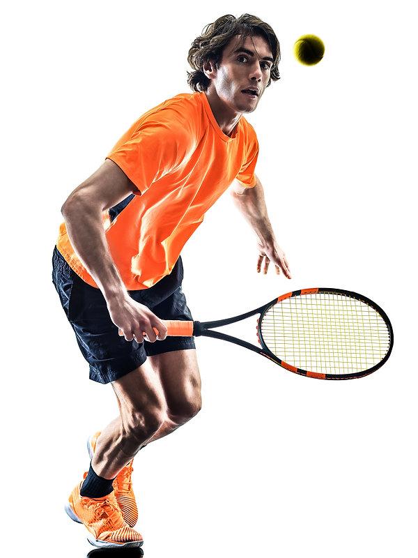 one caucasian hispanic tennis player man