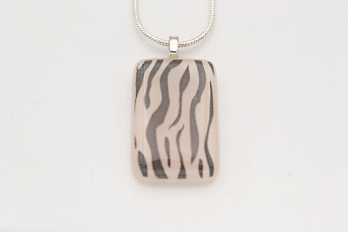 Off-White Zebra Print Necklace