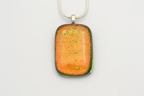 Orange Dichroic Glass Necklace
