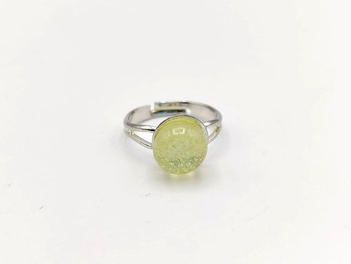Yellow Glass Adjustable Ring