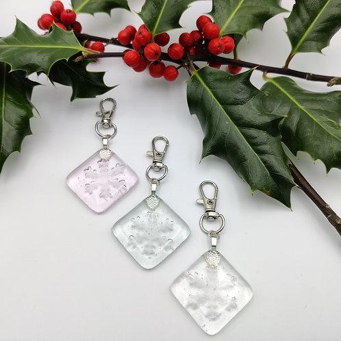 Snowflake Handbag Charm/Keyring
