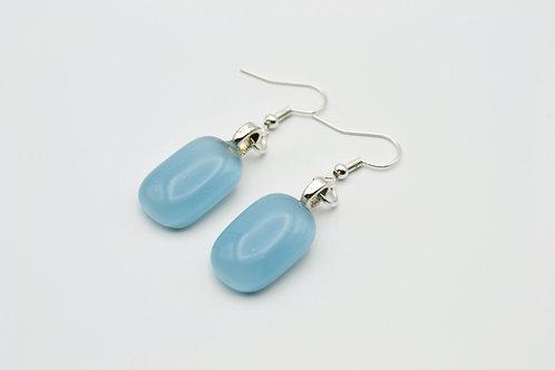 Pale Blue Glass Earrings