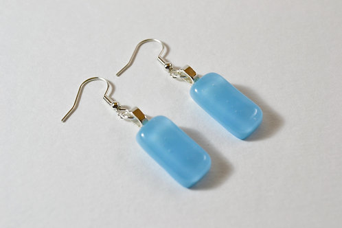 Pale Blue Glass Earrings
