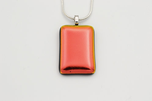Pink/Red Dichroic Glass Necklace