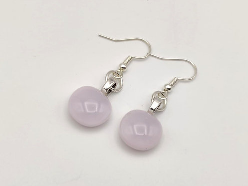 Small  Soft Pink  Glass Earrings