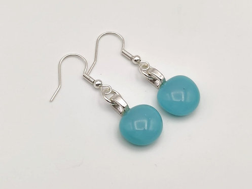 Small Turquoise/Blue Glass Earrings