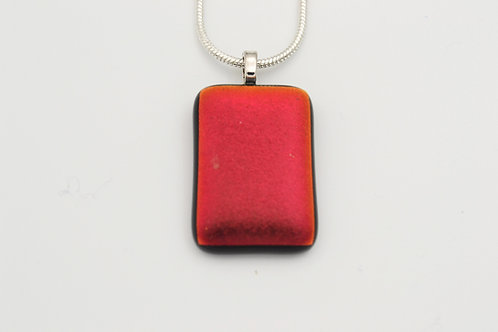 Red Dichroic Glass Necklace