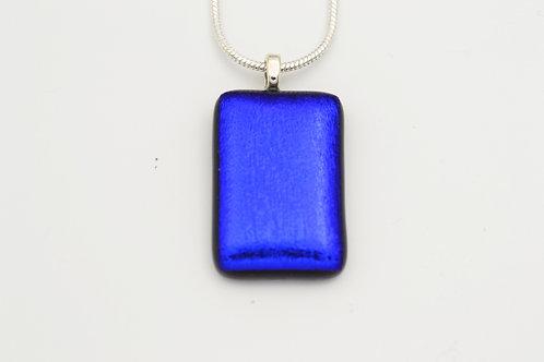 Dark Blue Dichroic Glass Necklace