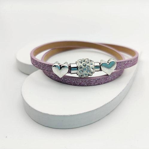 Pink Glitter Choker Bracelet