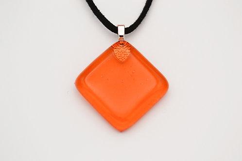 Orange Diamond Glass Necklace