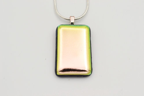 Pale Pink/Gold Dichroic Necklace