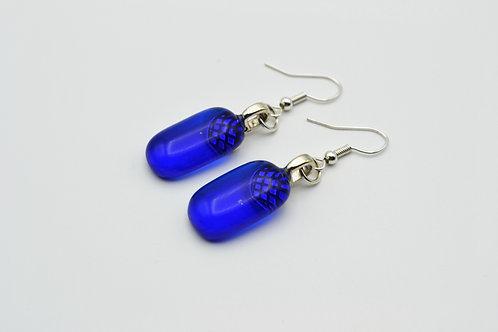 Deep Blue Glass Earrings