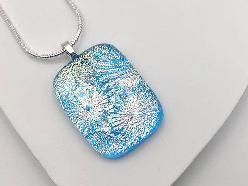 Turquoise Explosive Design Dichroic Necklace