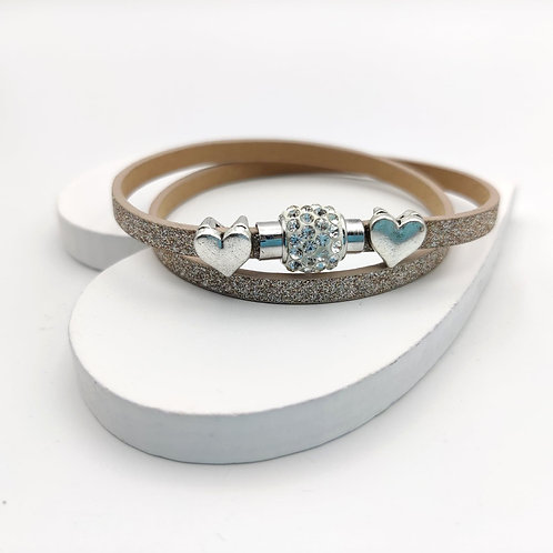 Light Brown Glitter Choker Bracelet