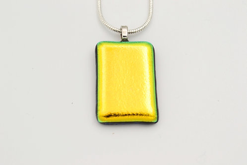 Gold Dichroic Glass Necklace
