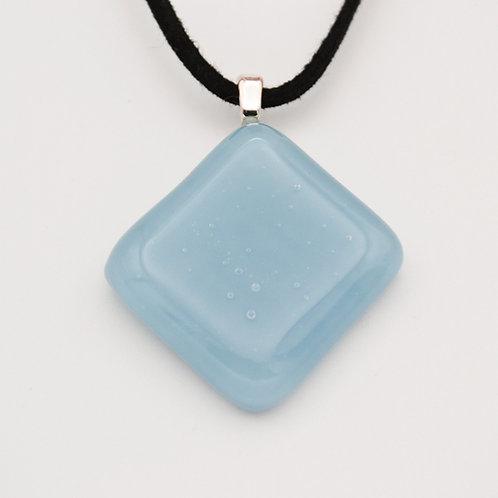Light Blue Diamond Glass Necklace