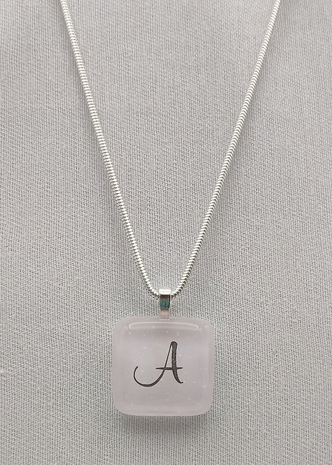 Soft Pink Personalised Glass Pendant Necklace