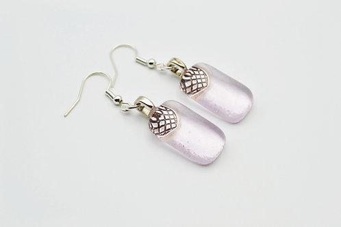 Pale Pink Glass Earrings