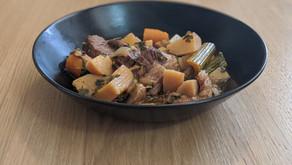 תבשיל בקר וירקות שורש בסיר לחץ אינסטנט - Instant Pot