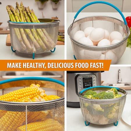 סל לאידוי ירקות וביצים
