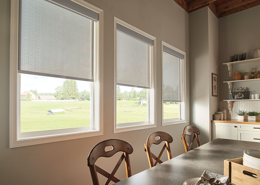 roller screen shades in dining room replace vertical blinds