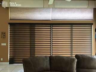 brown-zebra-shades-living-room-fort-laud
