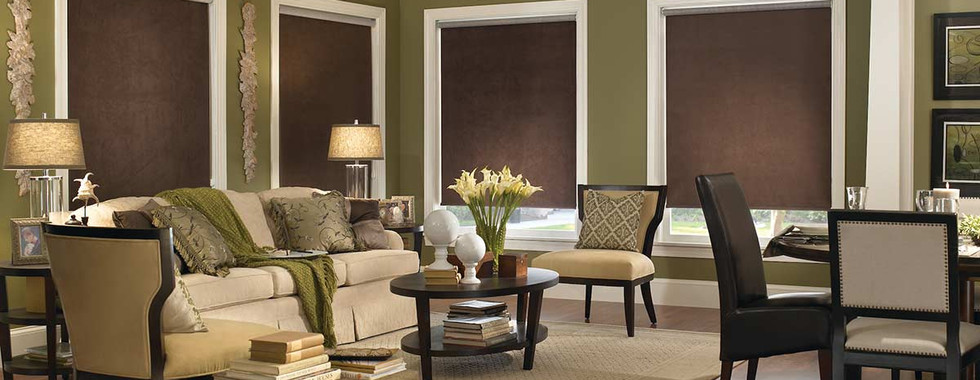 blackout-brown-roller-shades-living-room