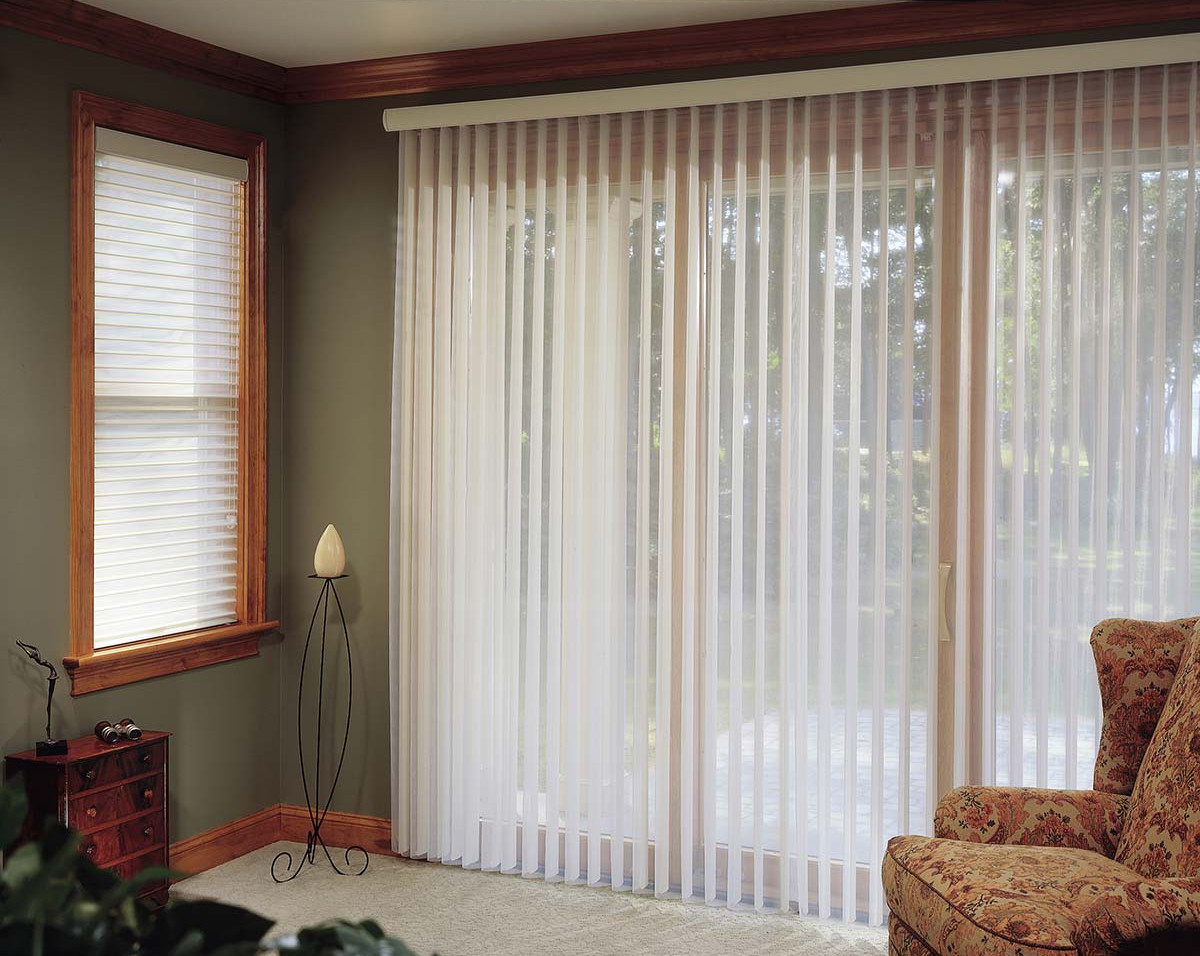 white-vertical-sheer-shade-covering-glas