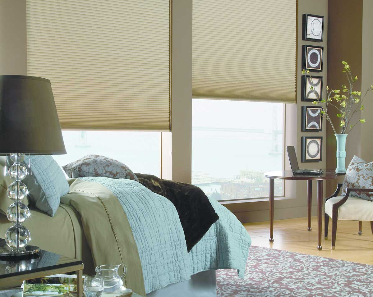 blackout-green-honeycomb-shades-bedroom.