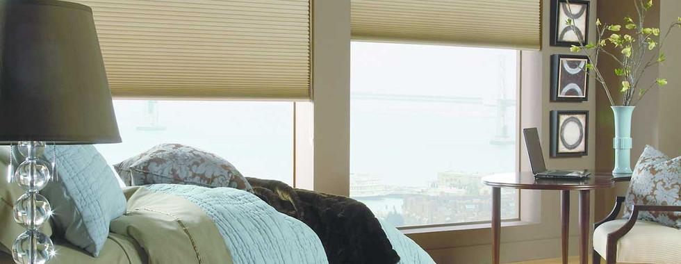 blackout-green-honeycomb-shades-bedroom.