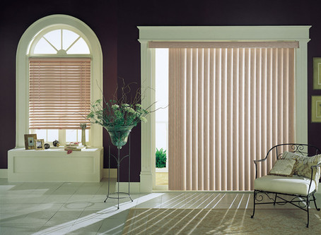 Commercial Solutions:  Faux Wood Horizontal Blinds & PVC Vertical Blinds