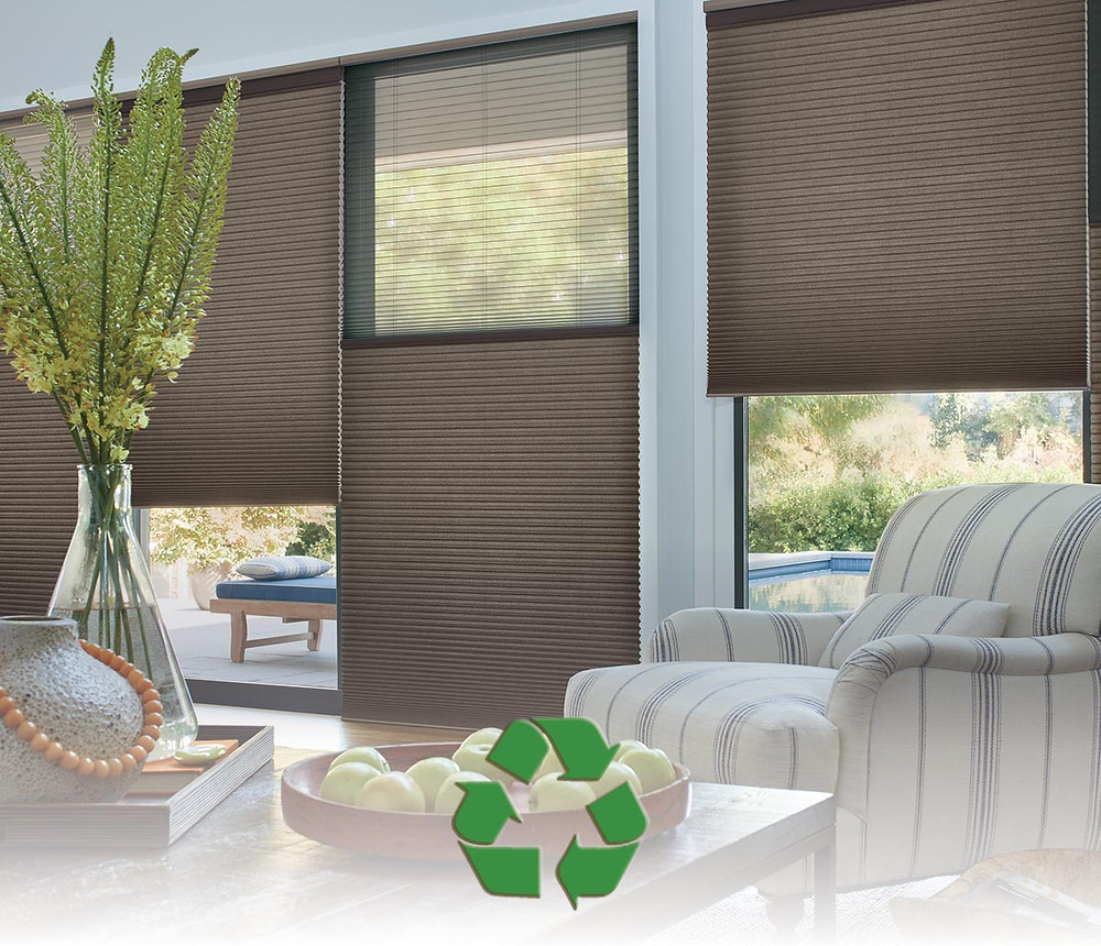 green eco-friendly recycable good environment window treatments shades blinds
