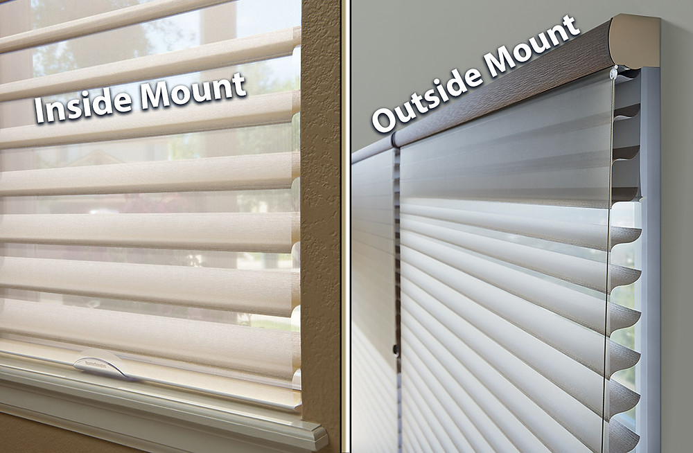 window blinds inside mount and outside mount options