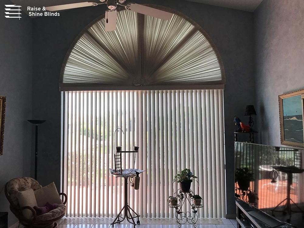vertical blind on sliding glass door