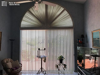 pvc-vertical-blinds-under-arch-livingroo