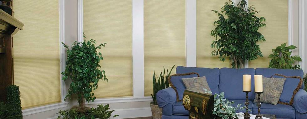 light-yellow-honeycomb-shades-livingroom