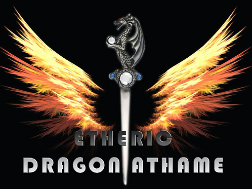 Etheric Dragon Athame - Powerful Protection from the Dragons