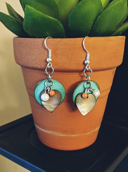 Circles + Hearts Earrings