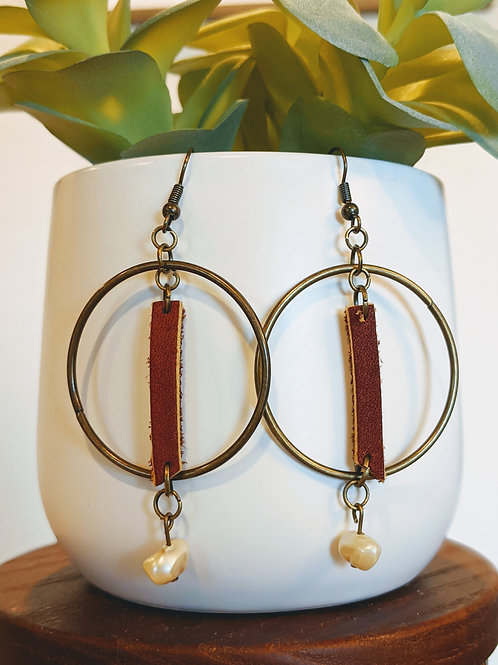Leather + Metal Earrings