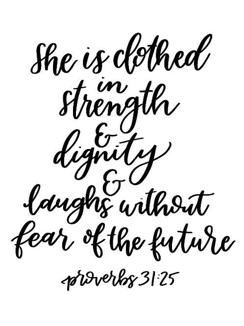 Proverbs 31:25   Printable