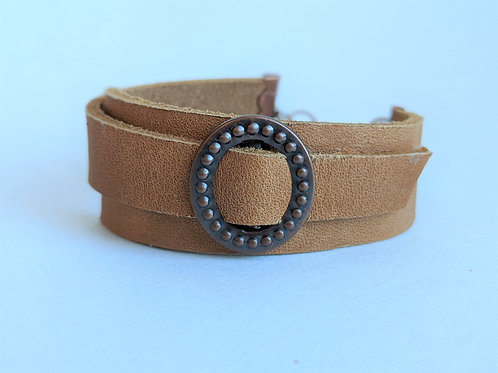 Leather Clasp Bracelet