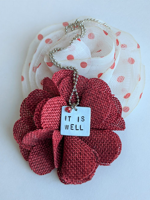It Is Well | Hand Stamped Necklace