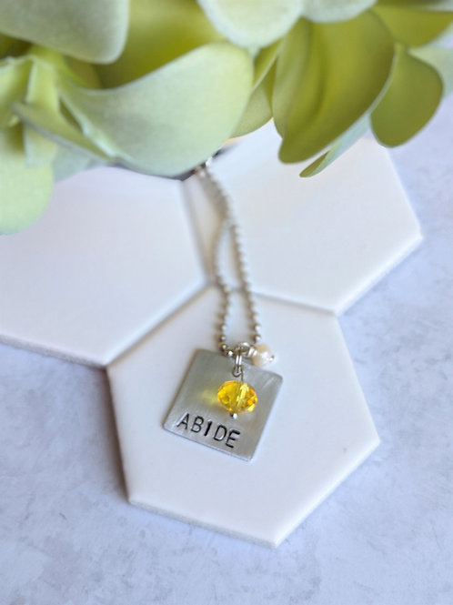 Abide | Hand Stamped Necklace